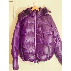 MARMOT 💜 650 Fill Hooded Purple Puffer Coat sz L